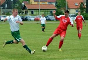 SG Griesheim/Großliebringen (in rot) - SV GW Möhrenbach. Foto: Britt Mandler