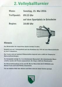 Ausschreibung Volleyballturnier
